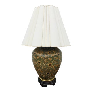 Vintage Large Frederick Cooper Asian Inspired Table Lamp. For Sale
