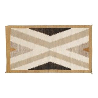 Vintage Mid Century Navajo Rug- 2′5″ × 4′4″ For Sale
