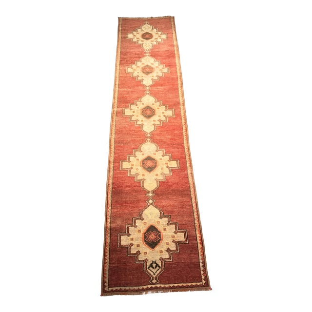 "Bellwether Rugs Vintage Turkish Oushak Runner - 2'4"" X 10'5"" - Image 1 of 10"