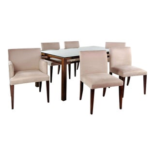 Modern Room & Board Dining Set - 7 Pieces For Sale