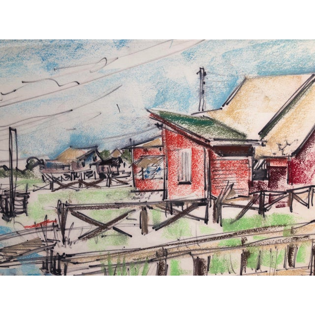 Americana Pawley's Island South Carolina Mid-Century Lowcountry Scene, 1966 For Sale - Image 3 of 7