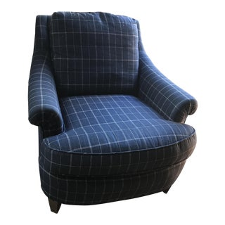 Baker Rolled Arm Club Chair