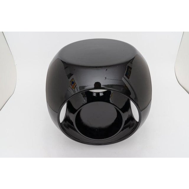 Resin Op Art Resin Black Drinks Tables - a Pair For Sale - Image 7 of 13