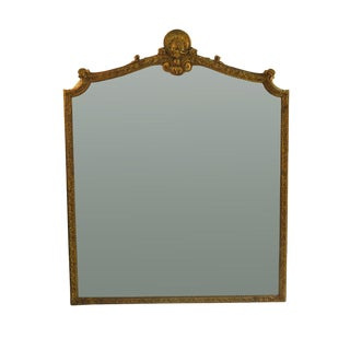 19th Century French Louis XV Style Gilt Wood Mirror For Sale