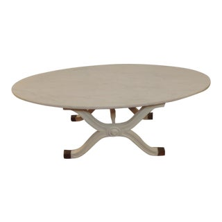 Vintage White Marble Surfboard Coffee Table For Sale