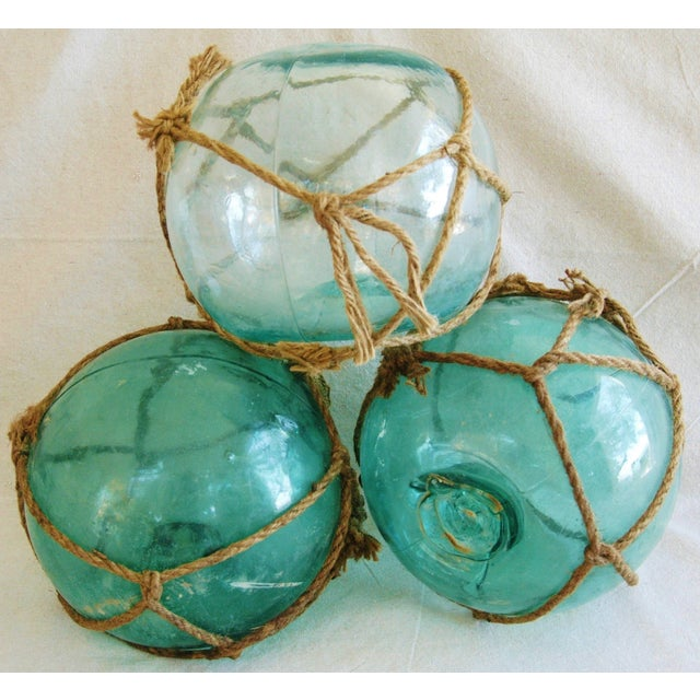 Hand-Blown Glass Fishing Floats - Set of 3 - Image 6 of 6