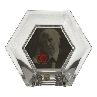 21st Century Frank Lloyd Wright Collection Crystal Picture Frame for Reed & Barton For Sale