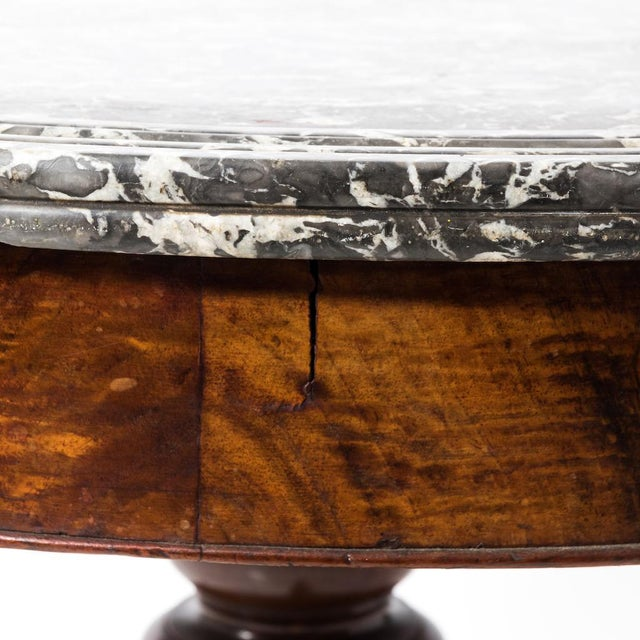 Antique French Second Empire Round Pedestal Table For Sale - Image 9 of 10