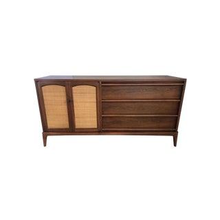 Mahogany Demilune Bar Liquor Cabinet Sideboard Commode Johnson Furniture Company For Sale