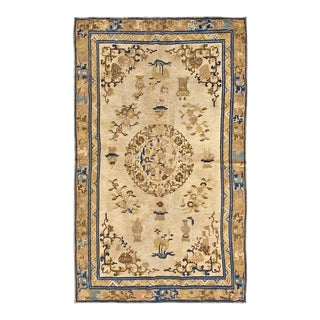 """Antique Chinese - Ningxia Rug, 5'0""""x8'0"""" For Sale"""