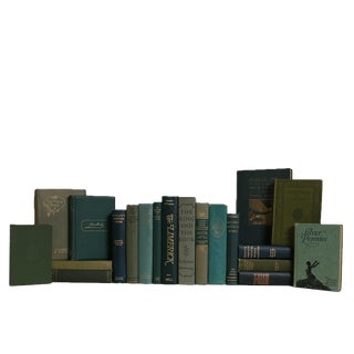 Vintage Boxwood Poetry Book Set, S/20 For Sale