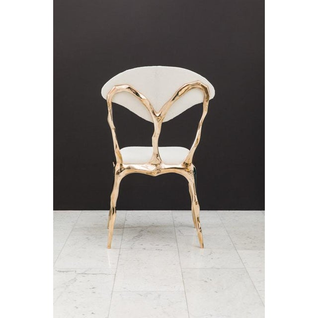 White Markus Haase, Faceted Bronze Dining Chair, Usa, 2018 For Sale - Image 8 of 13