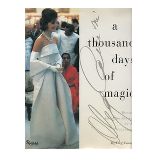 A Thousand Days of Magic by Oleg Cassini, Signed, Mint W/ Jacket, Hardcover Book For Sale