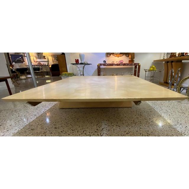 Karl Springer Style Goatskin Cocktail Table For Sale - Image 10 of 13