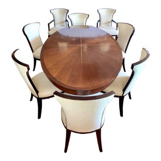 Henredon Oval Celestial Dining Set, Table, 8 Chairs by Barbara Barry For Sale