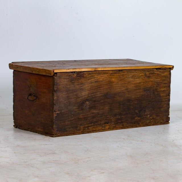19th Century Antique Painted Trunk For Sale - Image 4 of 10
