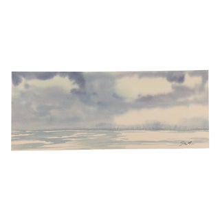 "Nautical Nancy Smith Original Seascape ""Til We Meet Again"" For Sale"
