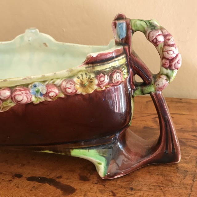Pretty Centerpiece Bowl that I believe is from the Arts & Crafts era. Ideal placement would be in the center of dining...