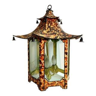 Faux Turtle Shell Pagoda Ceiling Lantern