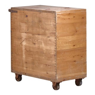Pine Storage or Waste Cart, Sweden, 1930s For Sale