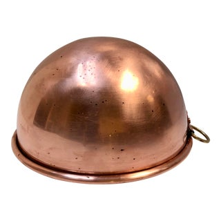 Vintage British Marked Copper Mixing Bowl For Sale