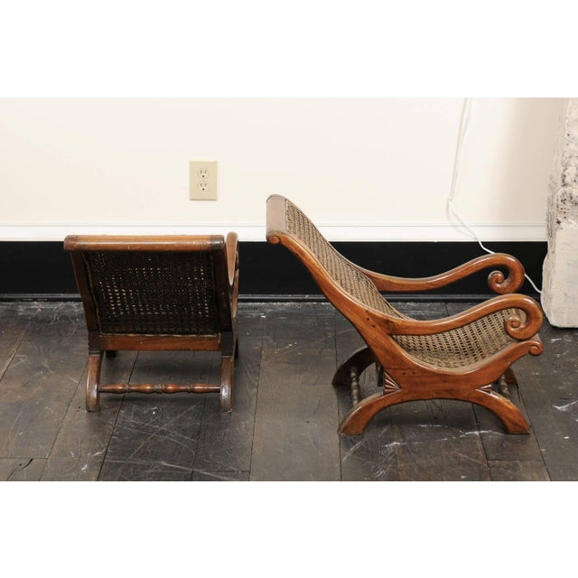 Mid 19th Century Pair of French 19th Century English Children's Chairs With Cane Backs and Seats For Sale - Image 5 of 11