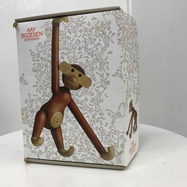Wood Mid-Century Danish Modern Teak and Ebony Articulated Monkey by Kay Bojensen For Sale - Image 7 of 9