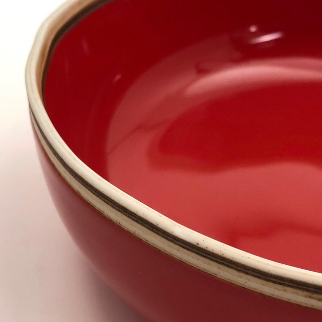 Bo Jia Red Terrain Bowls - a Pair For Sale - Image 9 of 11