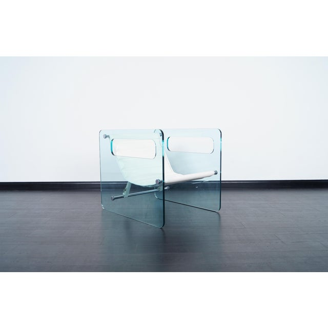 """Naked"" Glass Lounge Chair by Giovanni Tommaso For Sale In Los Angeles - Image 6 of 7"