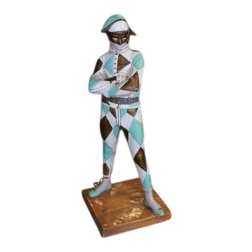 Vintage Harlequin Jester Table Lamp by Marbro For Sale