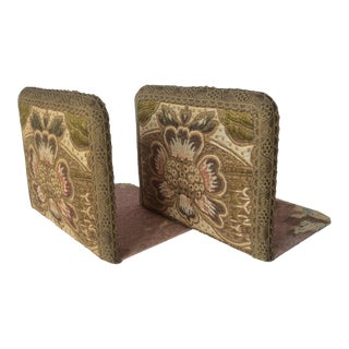 Antique Textile Bookends - A Pair For Sale