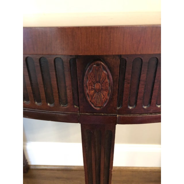 Traditional Hickory Chair Mahogany Demilune Table For Sale - Image 3 of 5