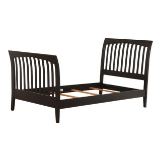 Ethan Allen American Impressions Black Painted Twin Sleigh Bed For Sale