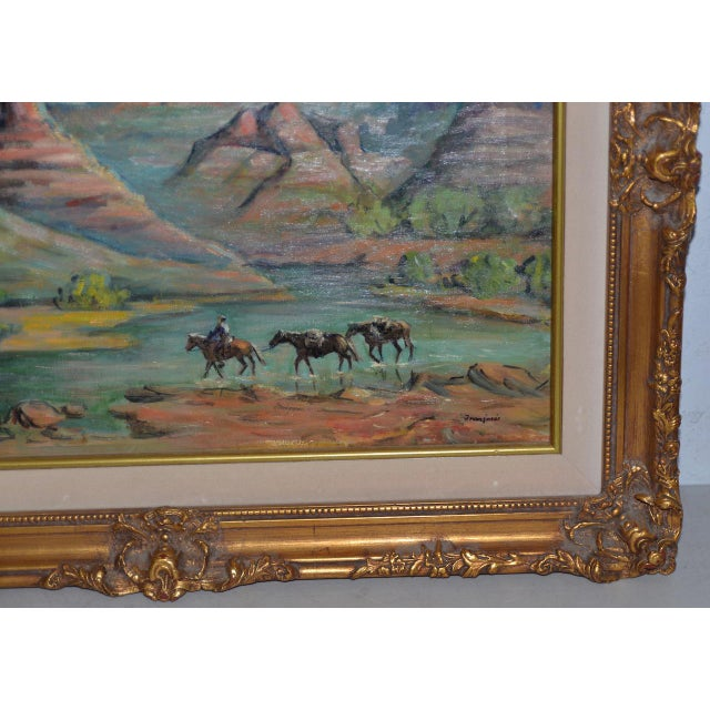 """Arizona Western Landscape """"near Flagstaff"""" Oil Painting by Francoise For Sale - Image 4 of 9"""