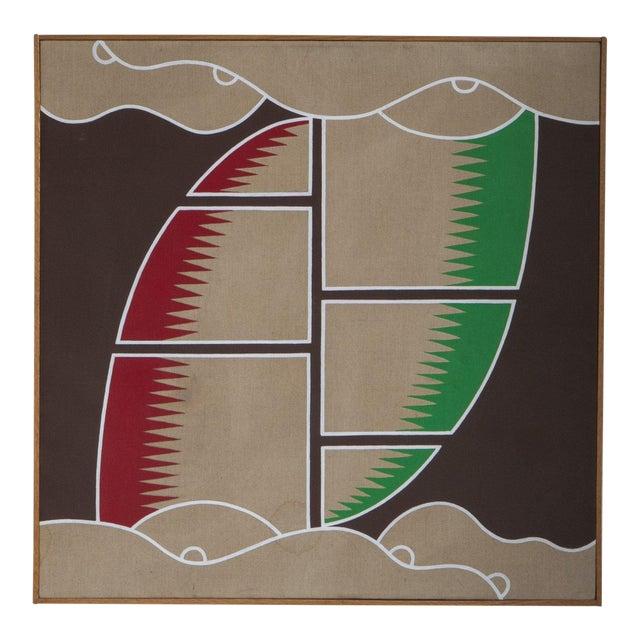 "1970's Vintage ""Sail Desert Storm"" Painting For Sale"