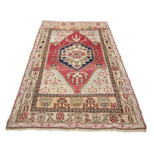 Washed out vintage rug from Konya region of Turkey. Approximately 50-60 years old. In very good condition