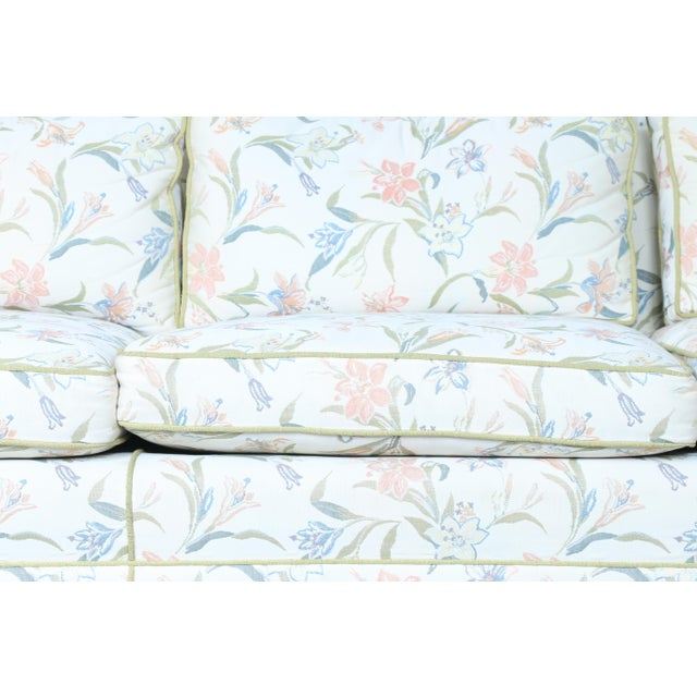 Mid-Century Modern Floral Sofa - Image 5 of 10
