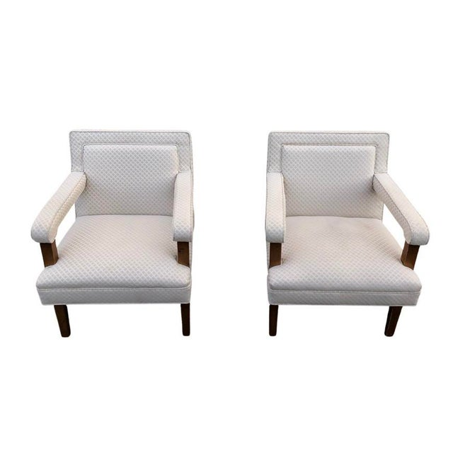 1970s Mid-Century Club Lounge Chairs - a Pair For Sale - Image 4 of 6