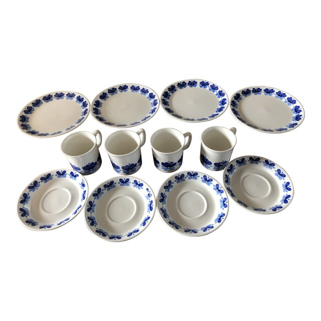 Stavangerflint by Rolf Froyland Cups, Saucers, and Small Plates - Set of 12 For Sale