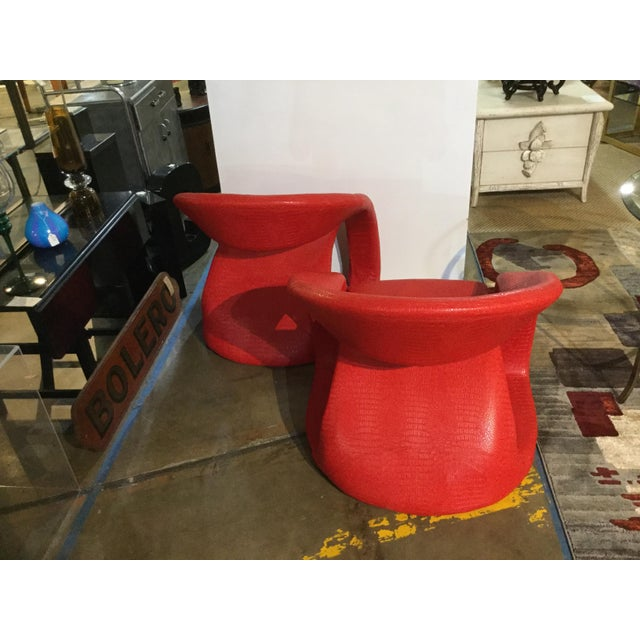 Mid-Century Modern 1980s Vintage Modern Chairs- A Pair For Sale - Image 3 of 4