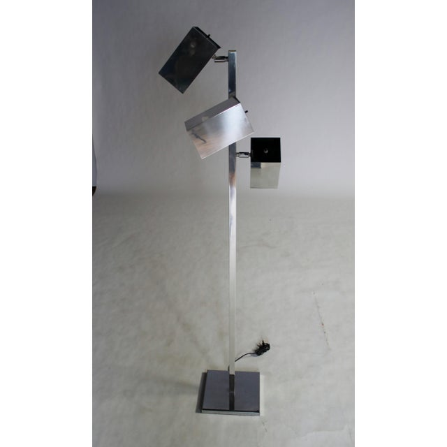 Chrome Koch & Lowy Floor Lamp For Sale - Image 7 of 10