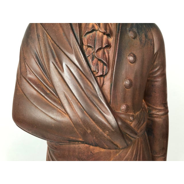 Large 19th Century George Washington Cast Iron Stove Figure For Sale In Boston - Image 6 of 13