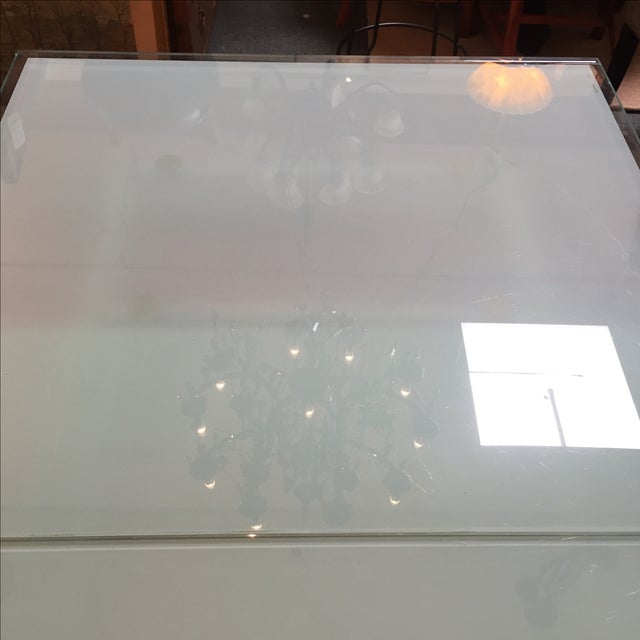 Calligaris Sandblasted Glass Extension Table - Image 8 of 9