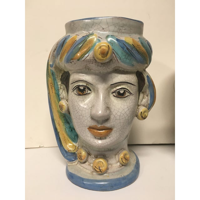 Figurative Figurative Sicilian Vases - a Pair For Sale - Image 3 of 10