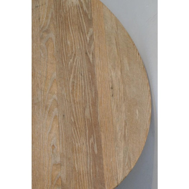 "Wood 40"" Round Wood Pedestal Base Farmhouse Coffee Table With Drawer For Sale - Image 7 of 10"