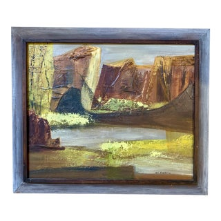 Vintage Mid-Century Nell Hirschkind Landscape Painting For Sale