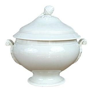 French White Stoneware Tureen