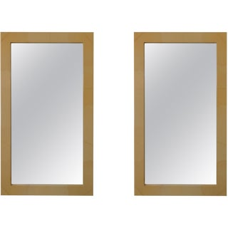 Mid-Century Faux Painted Mirrors - a Pair For Sale