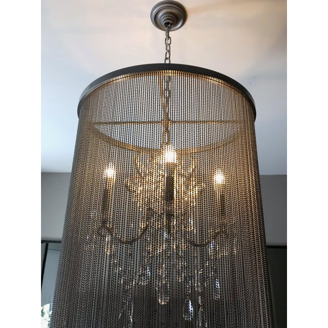 Restoration Hardware Restoration Hardware Vaille Crystal Chandelier For Sale - Image 4 of 8