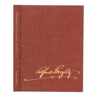 "1973 ""Alfred Stieglitz: An American Seer"" Coffee Table Book For Sale"